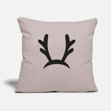 "Antler Reindeers and Antlers Antlers - Throw Pillow Cover 18"" x 18"""