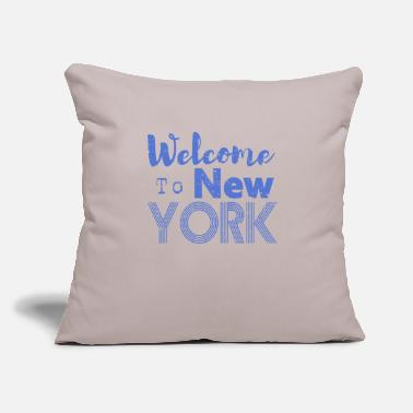"Ny Welcome to New York Vintage - Throw Pillow Cover 18"" x 18"""
