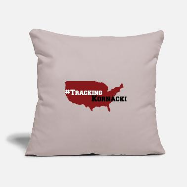"Tracking kornacki Dad - Throw Pillow Cover 18"" x 18"""