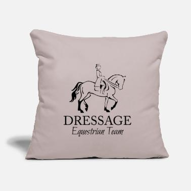 "Dressage Horse Female Dressage Rider and Horse - Throw Pillow Cover 18"" x 18"""
