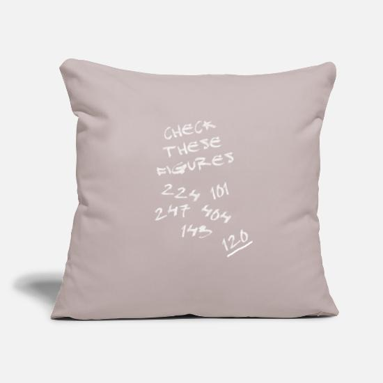 "Checkmate Pillow Cases - Internet Slang - Check these Figures - Throw Pillow Cover 18"" x 18"" light grey"