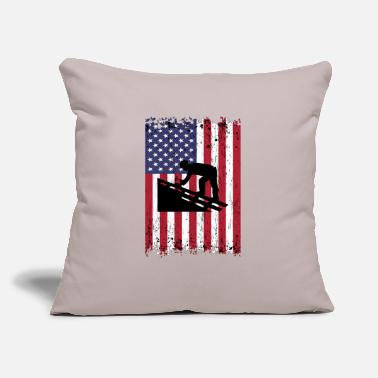 "Wife Roofing Dad Fathers Day Gift For Roofer - Throw Pillow Cover 18"" x 18"""