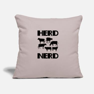 "Herd Herd nerd - Throw Pillow Cover 18"" x 18"""