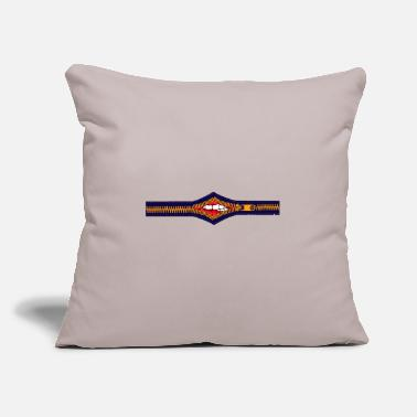 "Zip Mouth - Throw Pillow Cover 18"" x 18"""