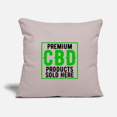 "Heal Premium CBD Products Sold Here Cannabidiol Oil - Throw Pillow Cover 18"" x 18"""