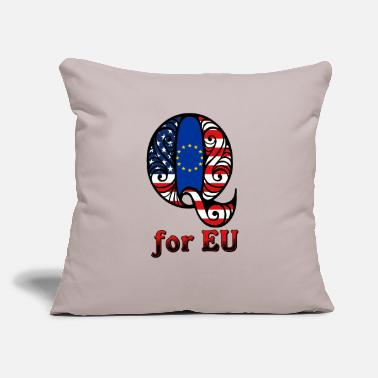 Eu Q for EU - Throw Pillow Cover