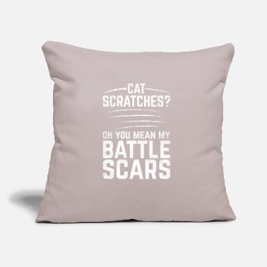 "Scar Funny Scars Design Quote Cat Scratches Battle Scar - Throw Pillow Cover 18"" x 18"""