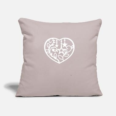 "Romantic Heart - Throw Pillow Cover 18"" x 18"""