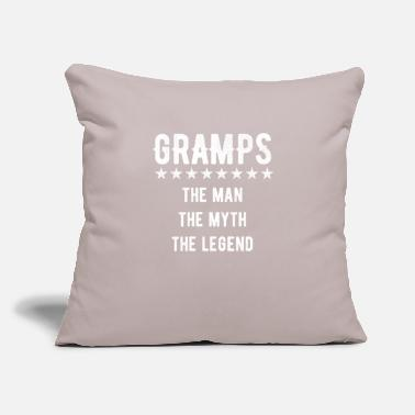 "gramps - Throw Pillow Cover 18"" x 18"""