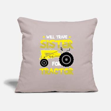 "Barn Will Trade Sister For Tractor For Tractor Kids - Throw Pillow Cover 18"" x 18"""