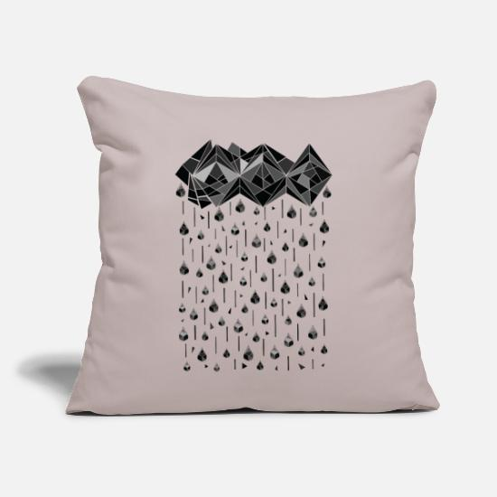 "Favorite Winter Things Pillow Cases - Geometric rain ss - Throw Pillow Cover 18"" x 18"" light taupe"