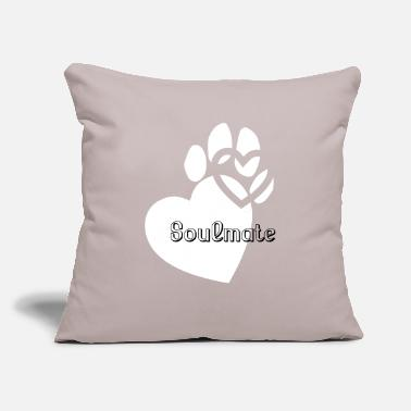 "Soulmate soulmate - Throw Pillow Cover 18"" x 18"""