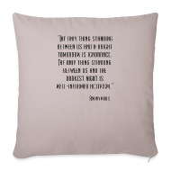 Image of: Facebook Covers Throw Pillow Cover 18 18 Spreadshirt Anonymous Quote Mug Spreadshirt