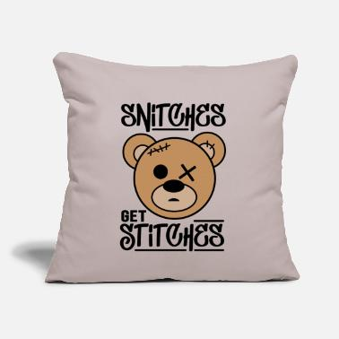 "Snitches Get Stitches Snitches get Stitches - Throw Pillow Cover 18"" x 18"""