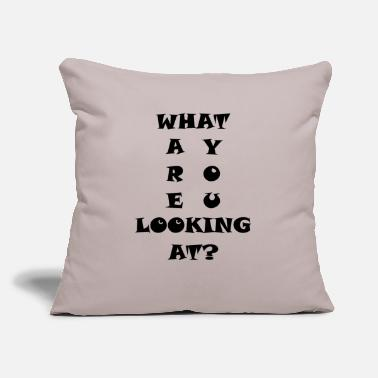 "Text text - Throw Pillow Cover 18"" x 18"""
