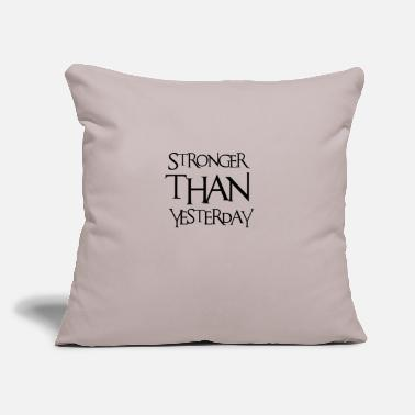 "Urban stronger - Throw Pillow Cover 18"" x 18"""