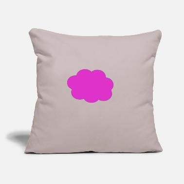 "Heaven Lila cloude Wolke Sky weater - Throw Pillow Cover 18"" x 18"""