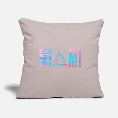 "South America Miami 80s - Throw Pillow Cover 18"" x 18"""