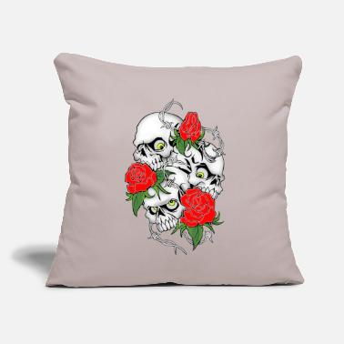 "Graphic Art Skull Graphic Art New - Throw Pillow Cover 18"" x 18"""