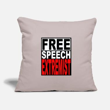 "Free Speech Extremist - Throw Pillow Cover 18"" x 18"""
