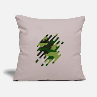 "Flecked Fleck Camouflage motif green - Throw Pillow Cover 18"" x 18"""