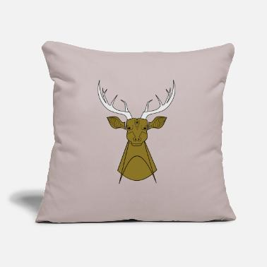 "Wild Deer Wild deer - Throw Pillow Cover 18"" x 18"""