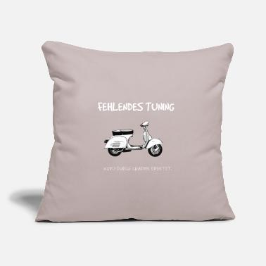 "Tuning charm Vespa - Throw Pillow Cover 18"" x 18"""