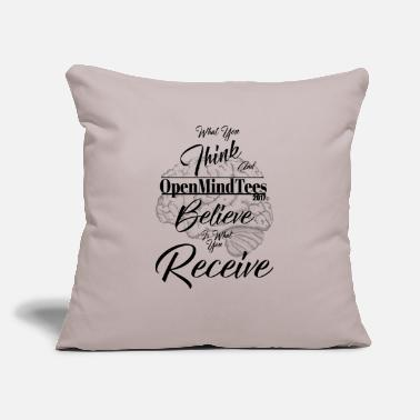 "What You Think Law Of Attraction - Throw Pillow Cover 18"" x 18"""