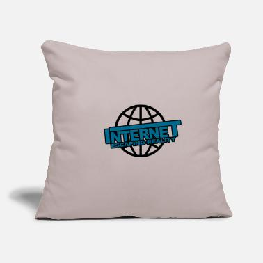 "Internet Internet - Throw Pillow Cover 18"" x 18"""