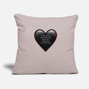"Against Against Racism - Throw Pillow Cover 18"" x 18"""