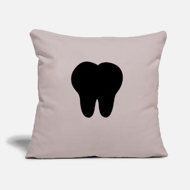 "Tooth tooth - Throw Pillow Cover 18"" x 18"""