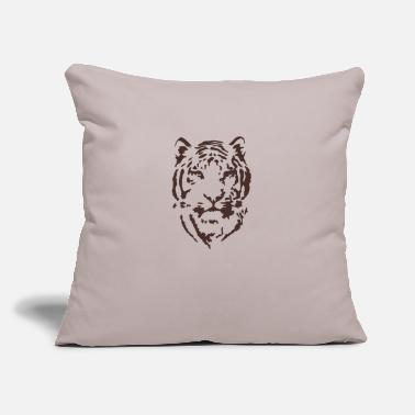 "Scratch Tiger Printed T-shirt - Throw Pillow Cover 18"" x 18"""