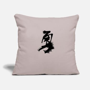 "Characters Calligraphy Courage - Throw Pillow Cover 18"" x 18"""