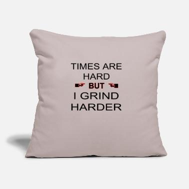 "These Are Hard Times Times Are Hard - Throw Pillow Cover 18"" x 18"""