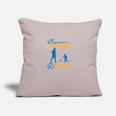 "Soccer Father son sports soccer coach - Throw Pillow Cover 18"" x 18"""