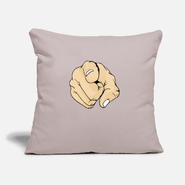 "3 Point Pointing Finger 3 - Throw Pillow Cover 18"" x 18"""
