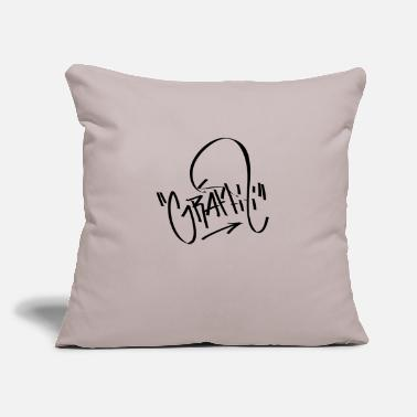 "Graffiti Graffiti Graffiti - Throw Pillow Cover 18"" x 18"""