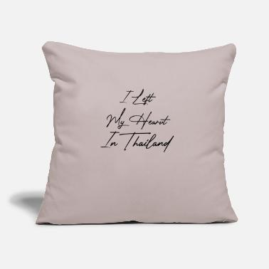 "I Love Thailand I left my heart in Thailand - Throw Pillow Cover 18"" x 18"""