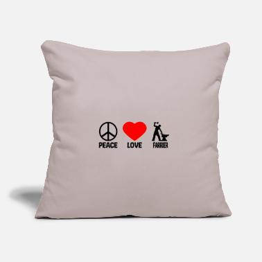 "Farrier Farrier Blacksmith Peace Love - Throw Pillow Cover 18"" x 18"""