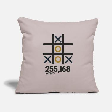 "Tic Tac Toe Tic Tac Toe - Throw Pillow Cover 18"" x 18"""