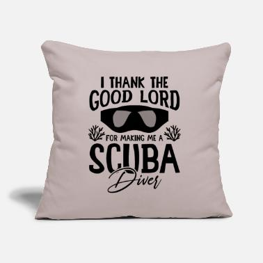 "Scuba scuba diving scuba - Throw Pillow Cover 18"" x 18"""