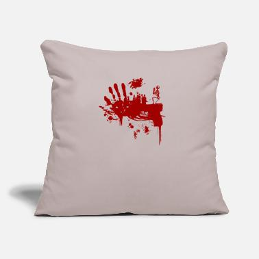 "Bloody Bloody Guns - Throw Pillow Cover 18"" x 18"""