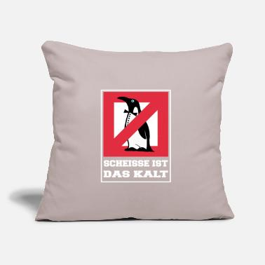 Beak Shit is cold - Penguin white - Throw Pillow Cover