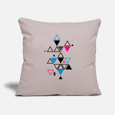 "triangle pattern - Throw Pillow Cover 18"" x 18"""