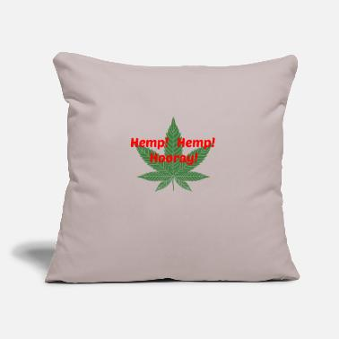 "Hemp Hemp Hemp Leaf iPiccy Design - Throw Pillow Cover 18"" x 18"""
