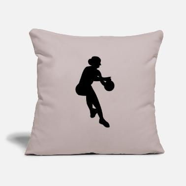 "Womens Basketball Womens Basketball - Throw Pillow Cover 18"" x 18"""