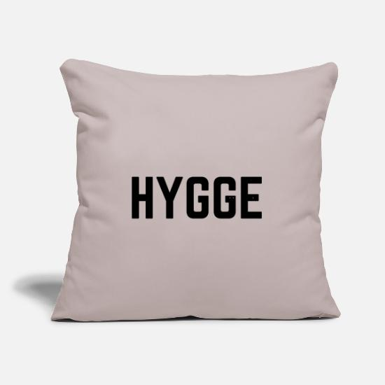 "Hygge Pillow Cases - Hygge - Throw Pillow Cover 18"" x 18"" light grey"