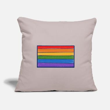 "Rainbow Flag Rainbow LGBT Flag - Throw Pillow Cover 18"" x 18"""