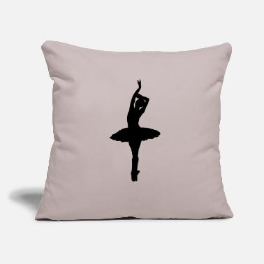 "Pretty Ballerina - Throw Pillow Cover 18"" x 18"""
