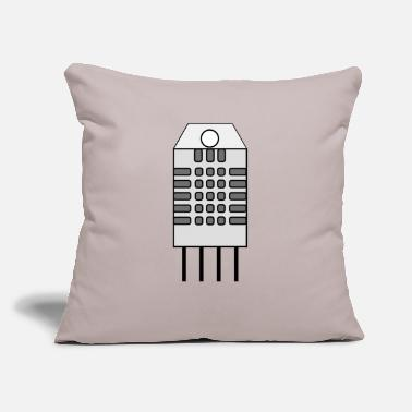 "Sensor Integrated Temperature and Humidity Sensor - Throw Pillow Cover 18"" x 18"""